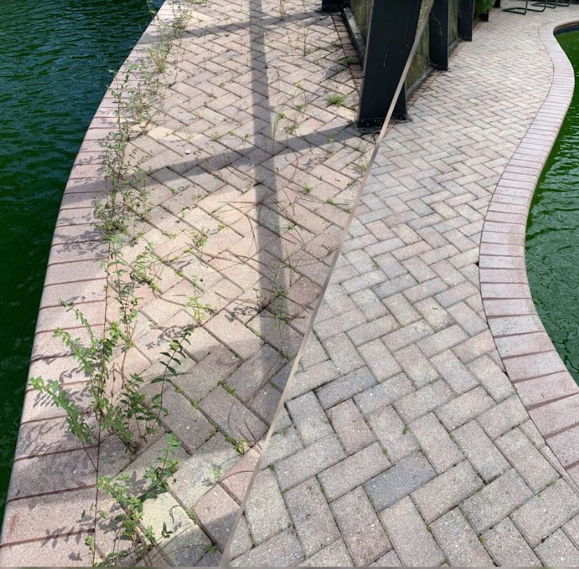Weed free interlocking pavers