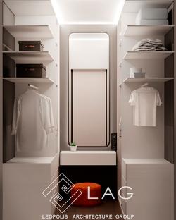 дизайн інтер'єру гардеробу
