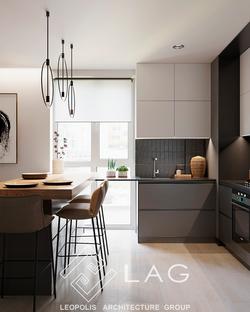 кх-дизайн інтер'єру кухні-вітальні