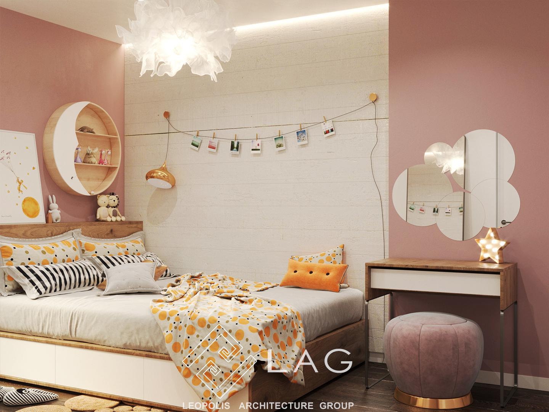 дизайн інтер'єру дитячої кімнати для дівчинки