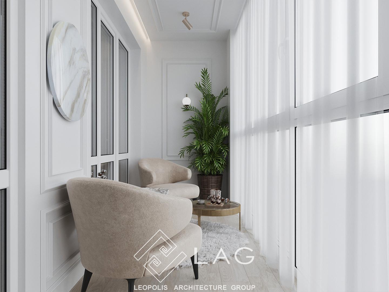 дизайн інтер'єру балкону