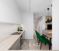 дизайн інтер'єру кухні-вітальні