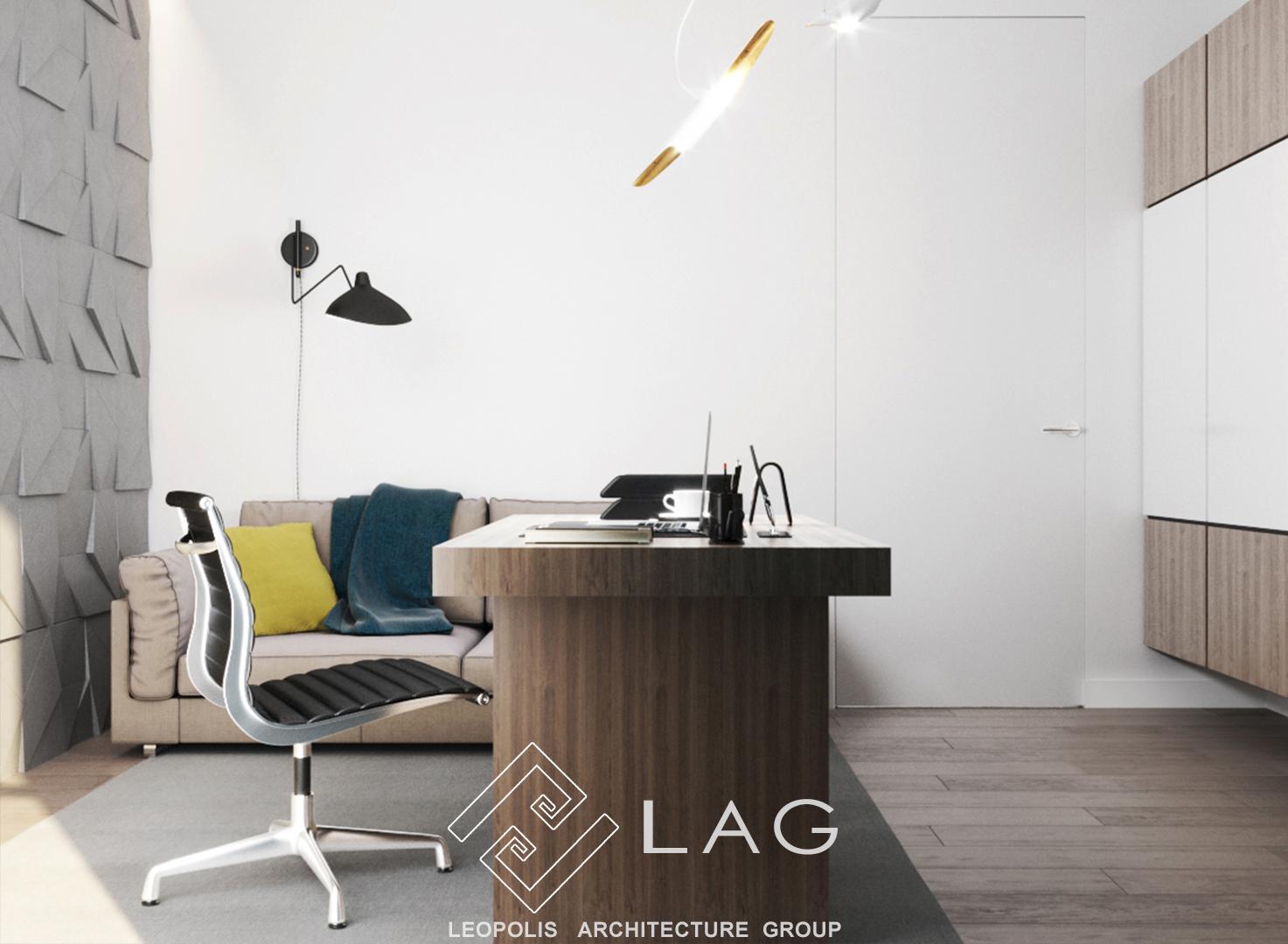 дизайн інтер'єру кабінету