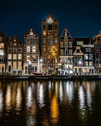Herengracht at night | Poster