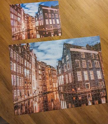 Amsterdam Venice Night   Jigsaw Puzzle 500 pc