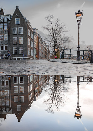 Amsterdam puddles | Poster