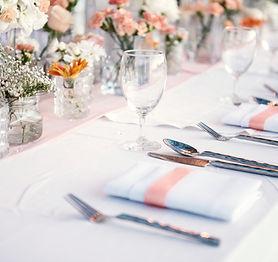 結婚式のテーブルセット