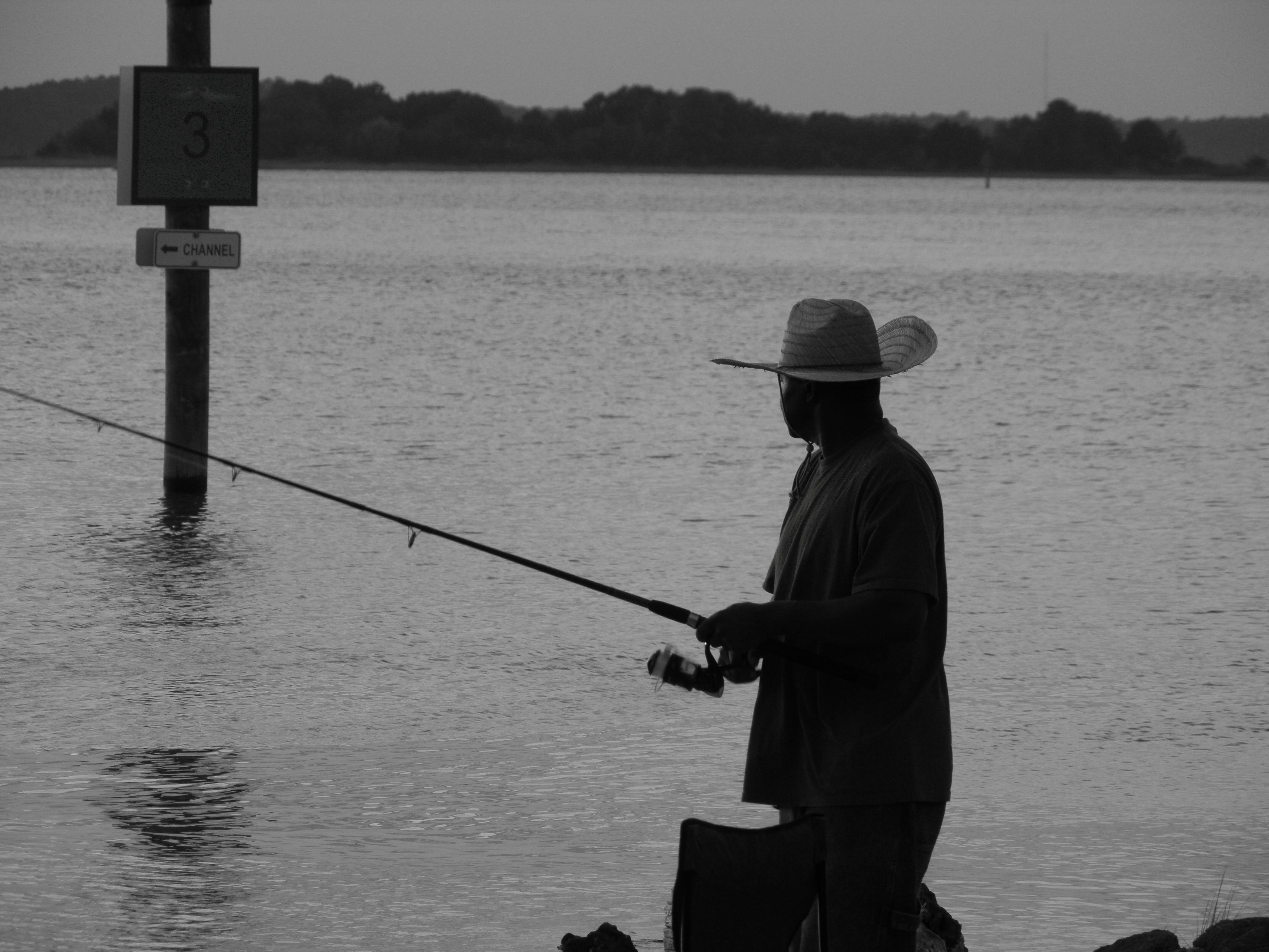 Fisherman [B & W]