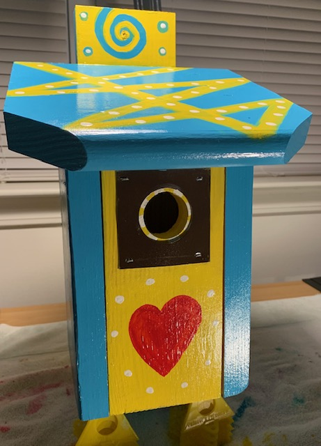 Hearts and Pattern Birdhouse
