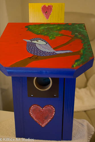 Custom made birdhouse