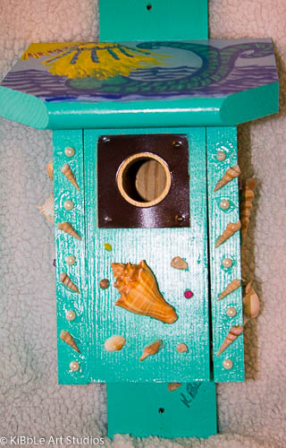 Mermaid & Seascape Themed Birdhouse