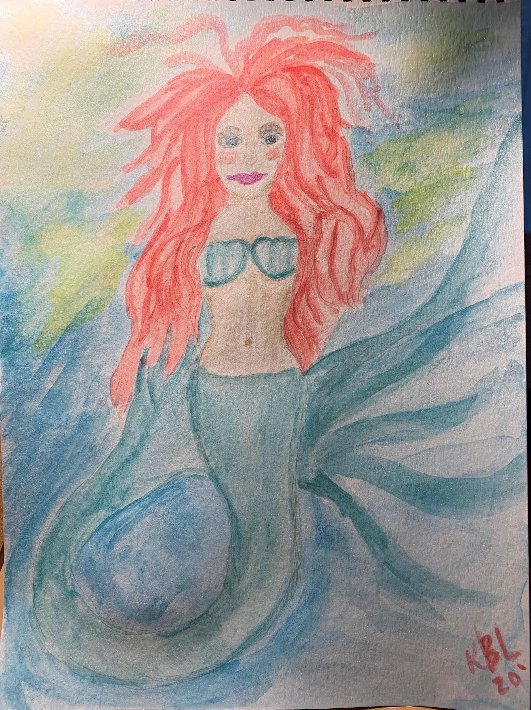 Little Mermaid with Big Hair