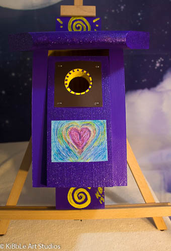 Purple Glitter Birdhouse