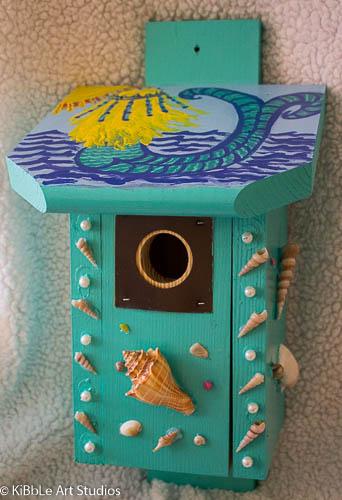 Mermaid & Seascaped theme birdhouse