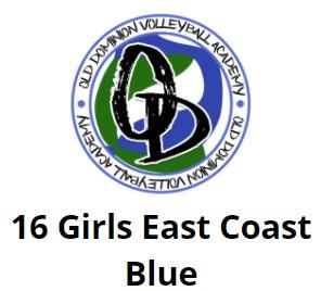 ODVA 16 Girls East Coast Blue