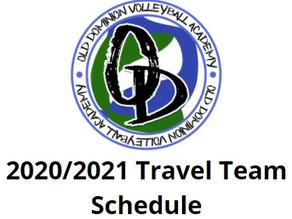 ODVA Travel Team Schedule