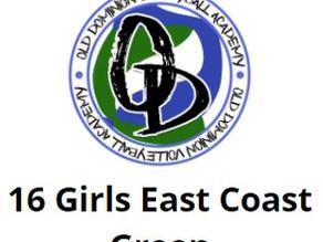 ODVA Girls 16 East Coast Green