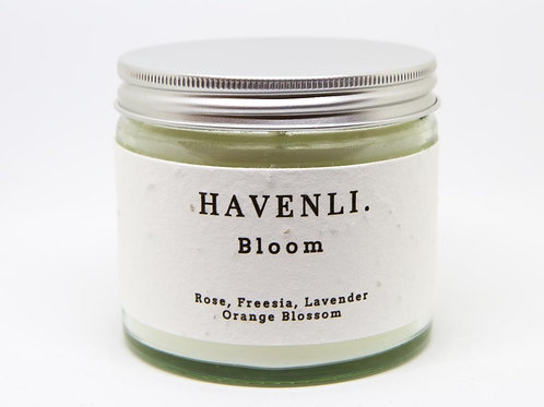 """""""Bloom"""" Candle 250ml with Wildflower Seed Plantable Label"""