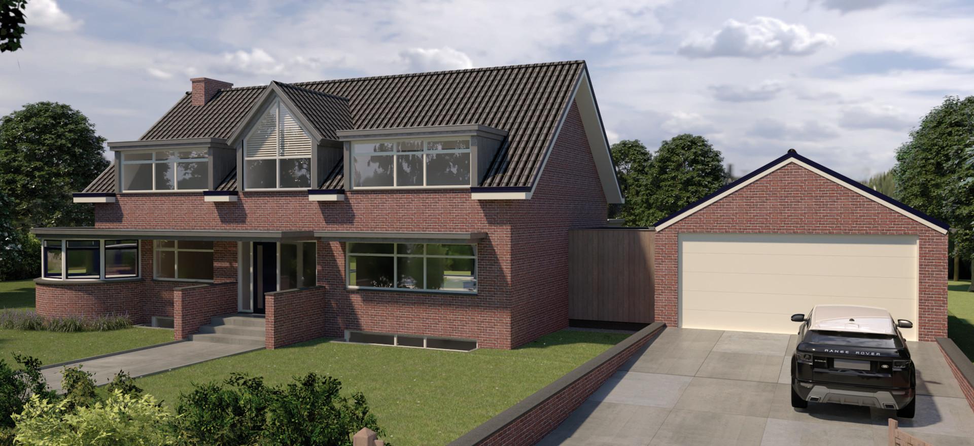 3D visualisatie nieuwbouw villa