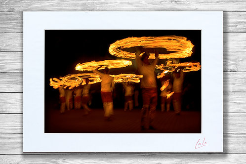 Halos of Fire (Matted Print)