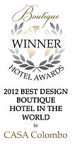 best design boutique hotel award casa colombo