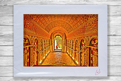 Kandy Temple Tunnel (Matted Print)