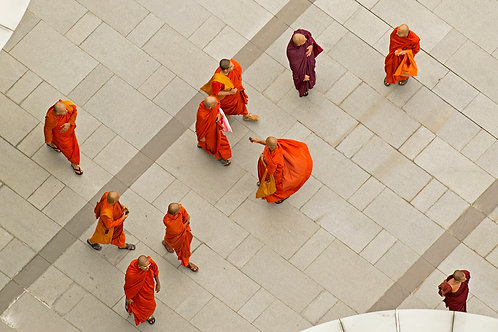 Monks from Above ( Large Print)