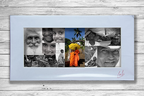 Faces Collage (Matted Print)