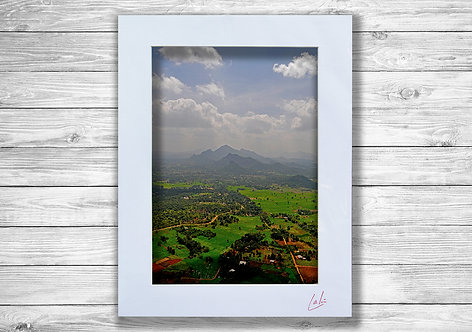 Sri Lankan Aerial Landscape (Matted Print)