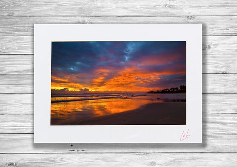Weligama Sky on Fire (Matted Print)