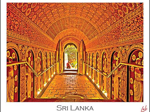 Kandy Temple Tunnel (Postcard)