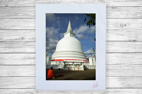 Temple & Nun (Matted Print)