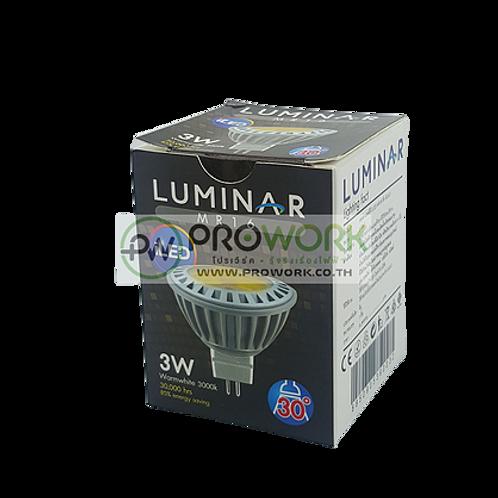 หลอด LED MR16 220V LUMINAR 3W WARMWHITE