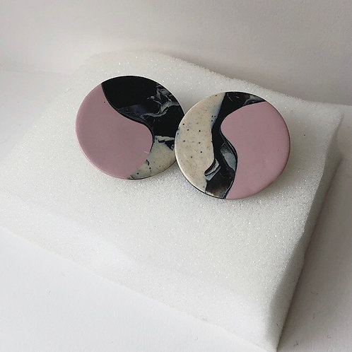 ABSTRACT YIN YANG IN MARBLE & PINK