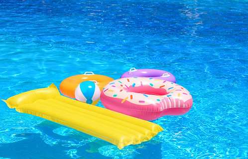 Variety of pool and hydrotherapy accessories