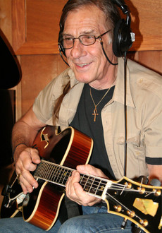 "Paul Wingo on guitar for the recording of ""A Teardrop of Sun"""