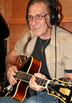 """Paul Wingo on guitar for the recording of """"A Teardrop of Sun"""""""