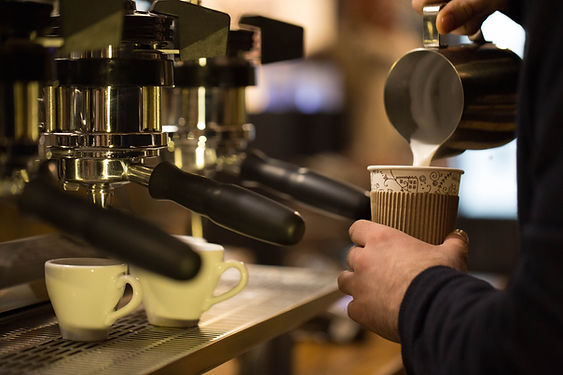 Barista Making Coffee To Go