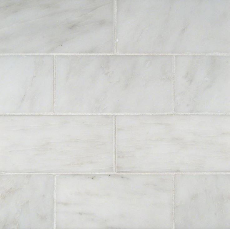 Arabescato Carrara Marble Backsplash