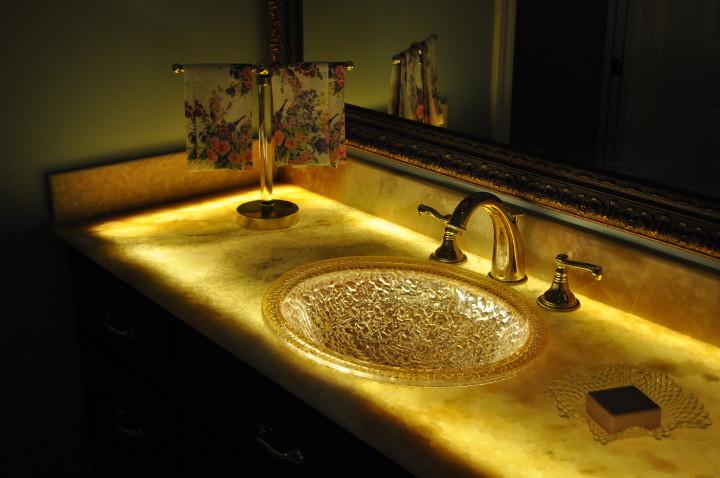 Glowing Bathroom Vanity