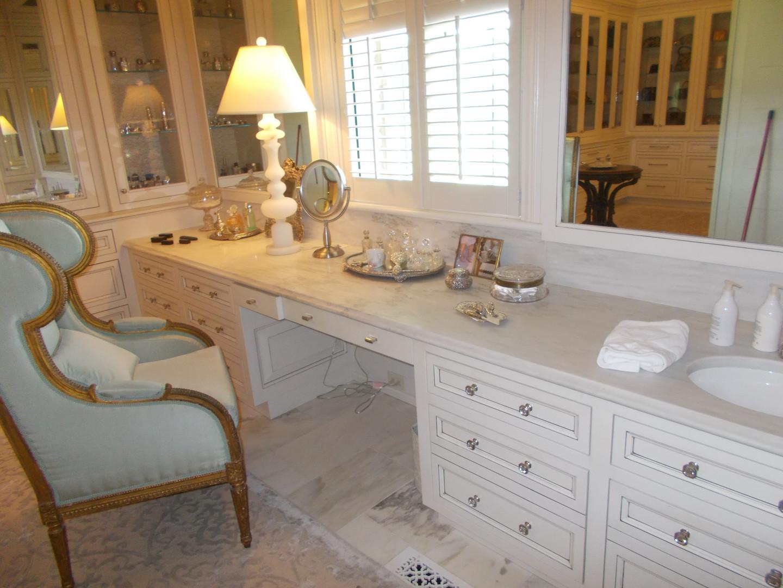 Marble powder room