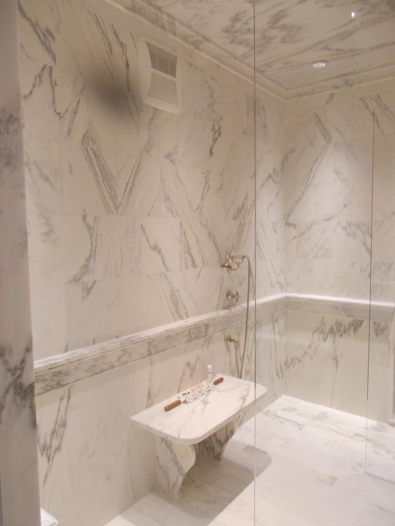 stone slab shower