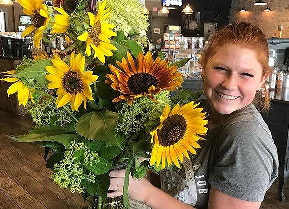 Krista's Sunflower & Hydrangea Bouquet
