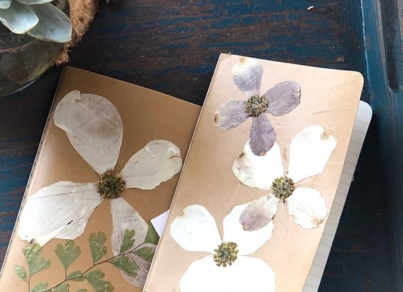 Gift: hand-made dried flower journal