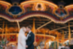 wedding bride and groom carousel disney orlando
