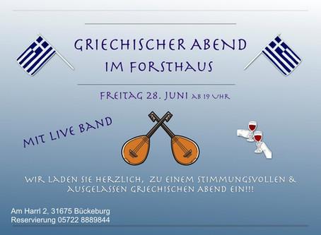 Greek Night im Forsthaus Bückeburg