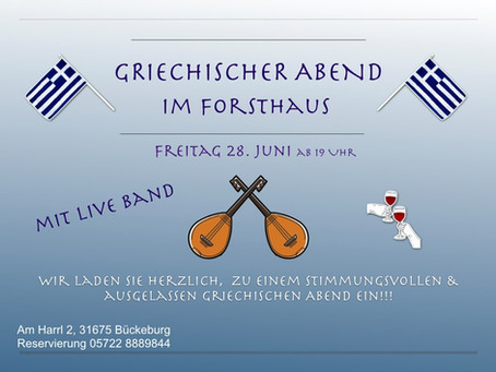 Greek Night im Forsthaus Bückeburg