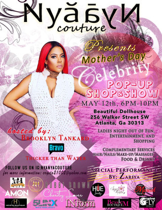 """Mother's Day Celebrity Pop-Up Shop hosted by: Brooklyn Tankard """"Bravo"""" Thicker than Wa"""
