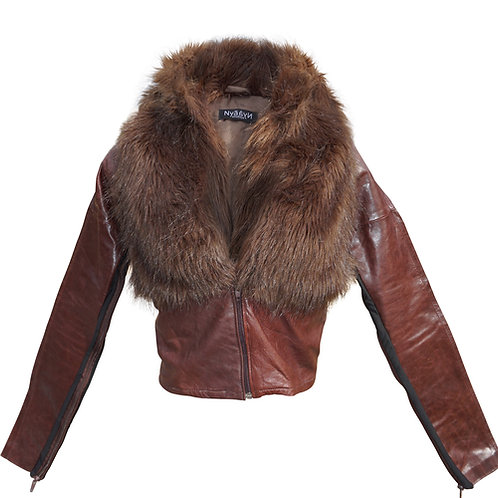 Brown Fur/Leather  Coat
