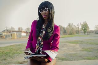 """The """"Button"""" Blazer (Miss Stella) photo shoot"""